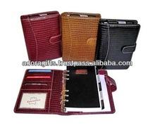 ADALP - 0046 handmade leather planner organizer / 6 ring binder planner / high quality leather year planner