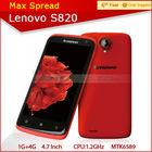 4.7'' quad core lenovo s820 lenovo mtk android phone