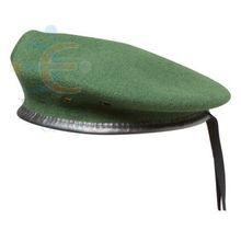 หมวกเบเร่ต์สีเขียวขนสัตว์100%หมวกเบเร่ต์หมวกทหาร, หมวกเบเร่ต์หมวกทหารที่มีคุณภาพสูง, หมวกทหาร