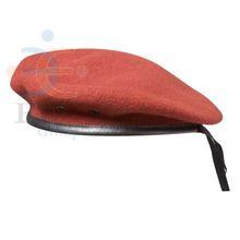Personalizado red cap boina militar, fornecimento de estoque e sob encomenda pac boina militar, moda cap boina militar