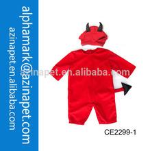 halloween costumes red dress devil/baby devil dress