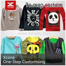 OEM popular comfort crewneck short sleeve cotton beautiful children t shirt wholesale