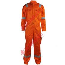 EN 11611 Orange color Industrial Reflective flame retardant uniform smocks