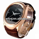 Cool Wrist Watch Phone+Quad Bands+1.3Mp+GPRS+100%Leather Bracelet
