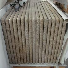 G682 Golden Sand Laminated Full Bullnose Edges Kitchen Granite Countertop