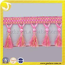 Polyester Perla Beads Tassel Fringe Cortinas for Decoration