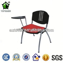Cheap school chairs with writing pad, comfortable training chair