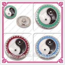 LJ0165 enamel jewelry charm,snap charms jewelry,wholesale women new style button jewelry