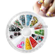 cute 3d fruit design nail art sticker polymer clay 3d nail art decoration