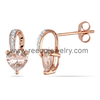 Diamond earring, fashion 2014 rose gold earring
