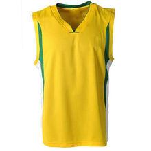 Custom made college yellow league basketball shirt wear