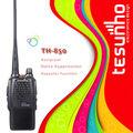 Tesunho th-850 boa qualidade mãos livres walkie-talkie com 12.5khz/25khz compatibilidade