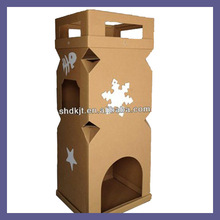CARDBOARD OUTDOOR CAT HOUSE FOR DKCH131119