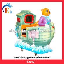 Happy Panda Ship electric animal kiddie ride MP4 screen kiddie ride