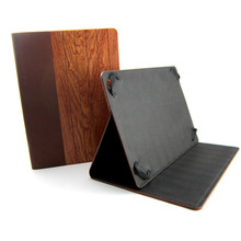 Wooden /bamboo leather case stand cover for ipad air