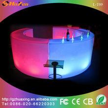 Straight LED Tables Decorative Lighting Design Illuminated LED Bar Counter