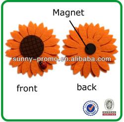 3D sunflower shape felt fridge magnet