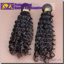 Thick Deep Wave Curly 6A Brazilian Remy Hair Donut Bun