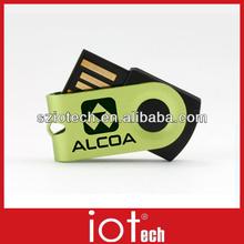 Wholesale Mini Gift Metal Swivel USB Flash Drive