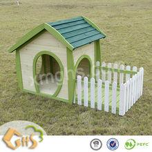 Wood Dog House with Balcony