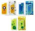 Plastic Liquid Oil Mobile Phone Case for iPhone 5 S Case (Beer / Liquid Blue / Liquid Yellow)