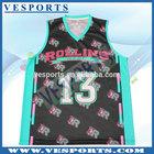 Custom made sublimation basketball jersey fabric