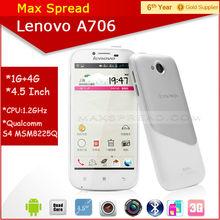 4.5'' Lenovo A706 android 4.1 dual sim 3g wcdma mini cell phone