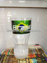 LED flashing beer cup for 2014 brazil football world cup