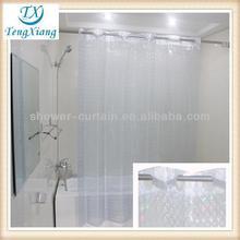 transparent 3D EVA color changing shower curtain