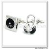 YH-1670 CD and Headphone Cufflinks,Christmas Wholesale Cufflinks