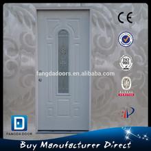 Fangda polystyrene insulated glass insert steel interior door