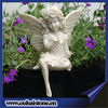 Carved Stone Sitting Nude Winged Child Girl Angel Marble Statues Sale