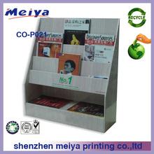 magazine cardboard brochure holder cardboard countertop book display stands,recycled book display stand advertising display