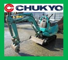 Pc01-1a usato giappone escavatore komatsu<SOLD OUT>/scarpa di gomma, motore a benzina