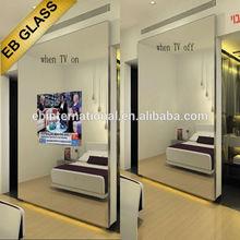 TV Mirror glass Wall, Decorative Magic Mirror Led light box
