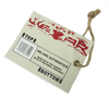 Silk Screen Printing Poly Canvas Swing tag, with cotton string and metal pin