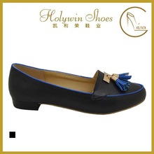 Holywin Tassel Flat Black PU Comfotable Women Shoes New Casual Dress Shoes For Girls