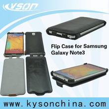 Black PU Leather Flip Case, Design for Samsung Galaxy Note3