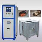50kg to 500kg copper scrap induction melting pouring furnace
