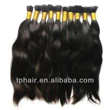 Dark Brown Slavic Virgin Human Hair ponytails, Russian Hair ponytails Raw Bulk