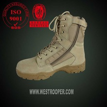 Military real leather cheap desert boots