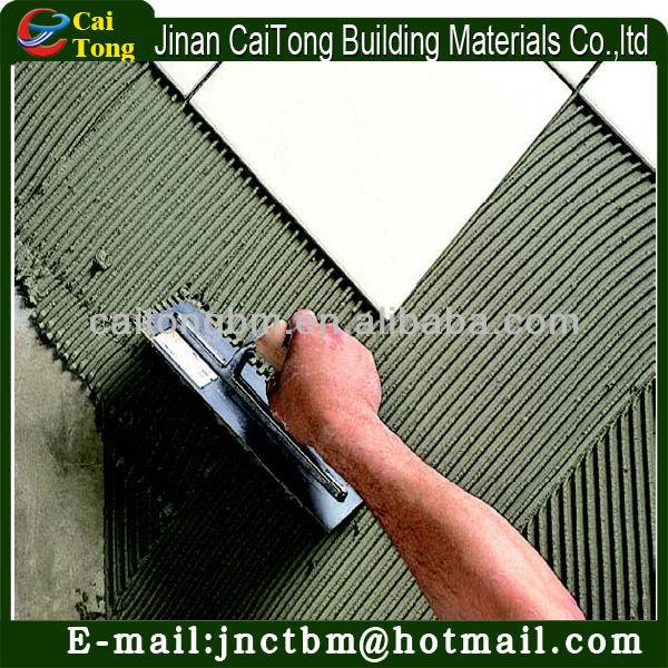 Peru size big tile using tile adhesive/glue