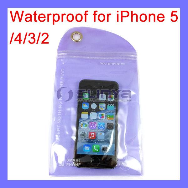 Weight 9 to 10g Anti-rain Waterproof Bag for iPhone 5 4 3 2