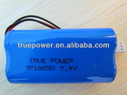 High quality Lithium ion battery 18650 7.4v 2600mah