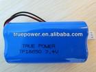 High quality Lithium ion battery 18650 7.4v 2600mah