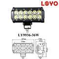Off road de una sola fila 36w barra de luz led, led barra de la lámpara de auto, 9-32v led barra de trabajo