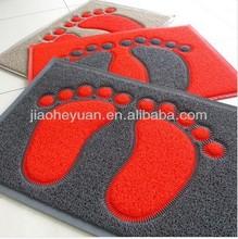 little foot printed pvc coil bath mat
