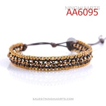 wholesale 2014 latest summer fashion turquoise gold bead bracelet free sample black best gel pen