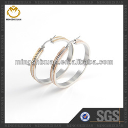 Anti stain rose gold big hoop Earrings Bangle matte finish for men and women