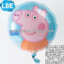 Foil balloon helium gas balloon peppa pig